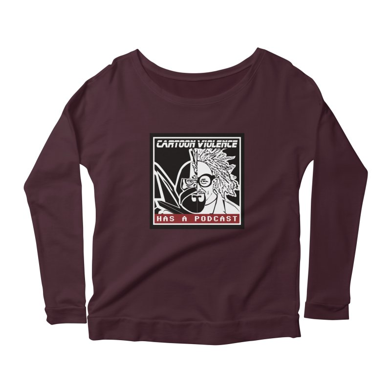 Cartoon Violence Has A Podcast Women's Longsleeve T-Shirt by Shirts by Cartoon Violence