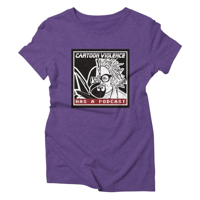Cartoon Violence Has A Podcast Women's Triblend T-Shirt by Shirts by Cartoon Violence