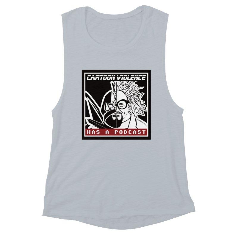 Cartoon Violence Has A Podcast Women's Tank by Shirts by Cartoon Violence