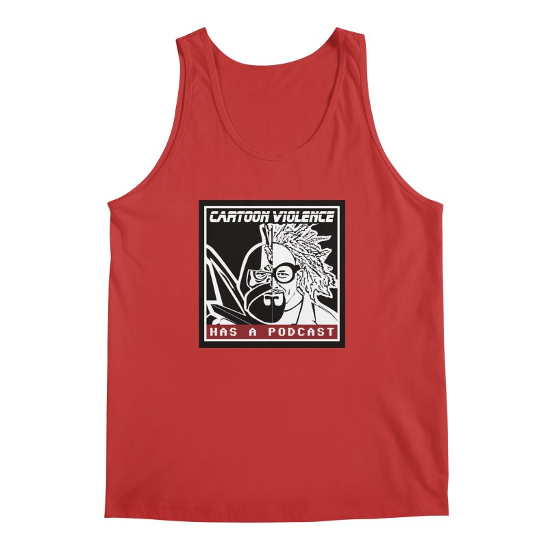 Cartoon Violence Has A Podcast Men's Regular Tank by Shirts by Cartoon Violence