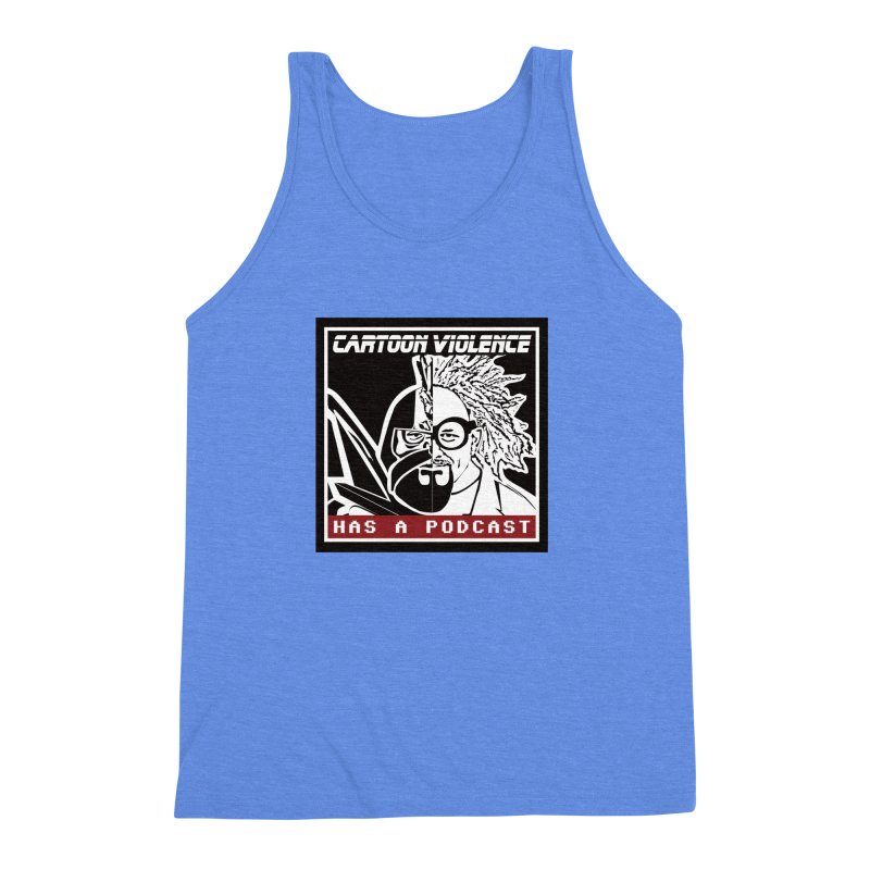 Cartoon Violence Has A Podcast Men's Triblend Tank by Shirts by Cartoon Violence