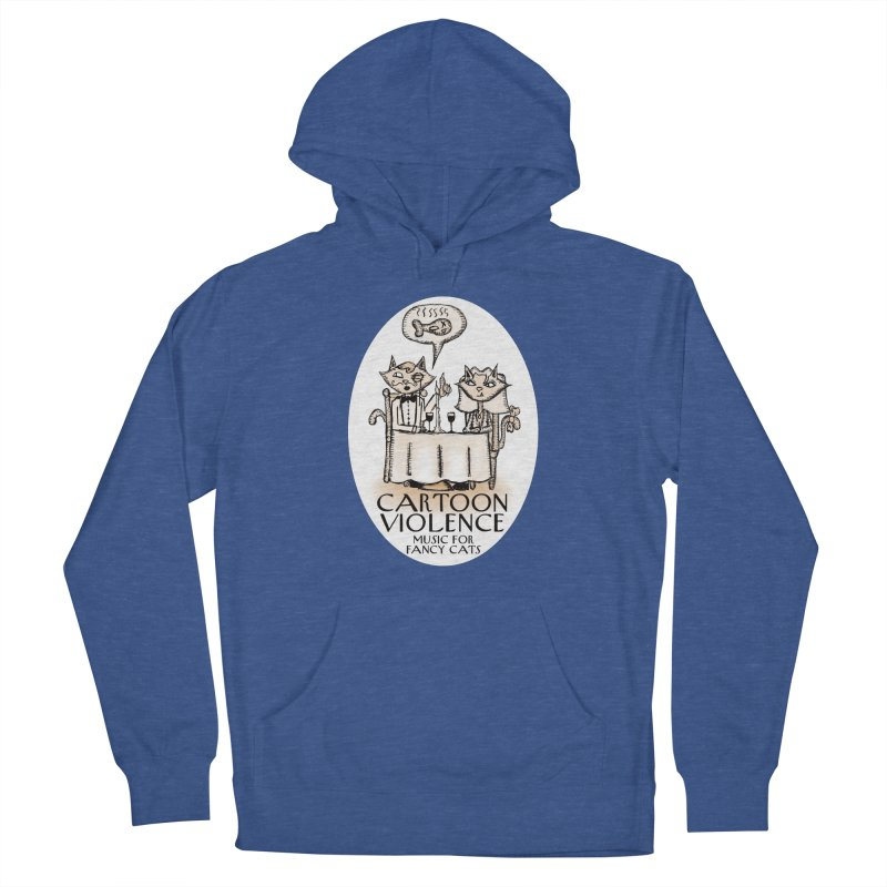 Fancy Cats Mew Yorker Men's Pullover Hoody by Shirts by Cartoon Violence