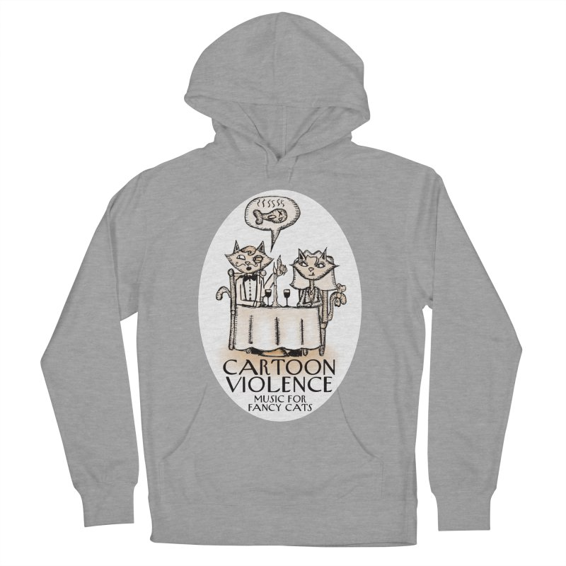 Fancy Cats Mew Yorker Women's French Terry Pullover Hoody by Shirts by Cartoon Violence