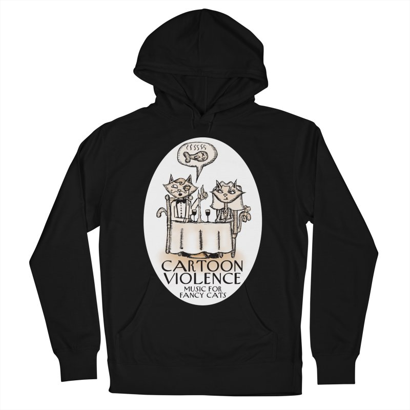 Fancy Cats Mew Yorker Men's French Terry Pullover Hoody by Shirts by Cartoon Violence