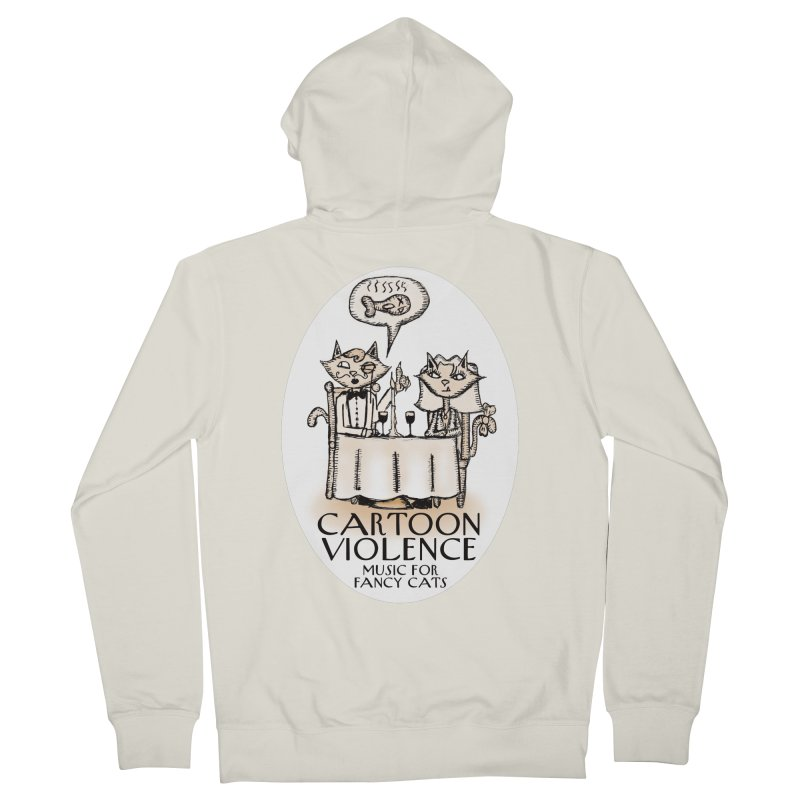 Fancy Cats Mew Yorker Men's Zip-Up Hoody by Shirts by Cartoon Violence