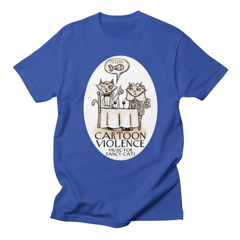 Fancy Cats Mew Yorker Men's Regular T-Shirt by Shirts by Cartoon Violence