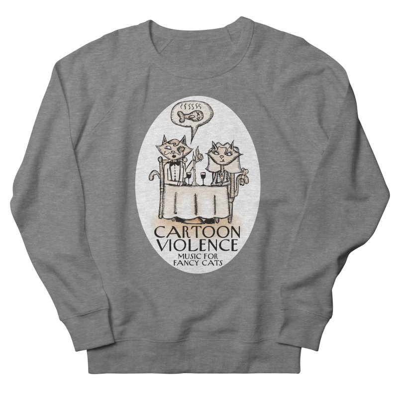 Fancy Cats Mew Yorker Women's French Terry Sweatshirt by Shirts by Cartoon Violence