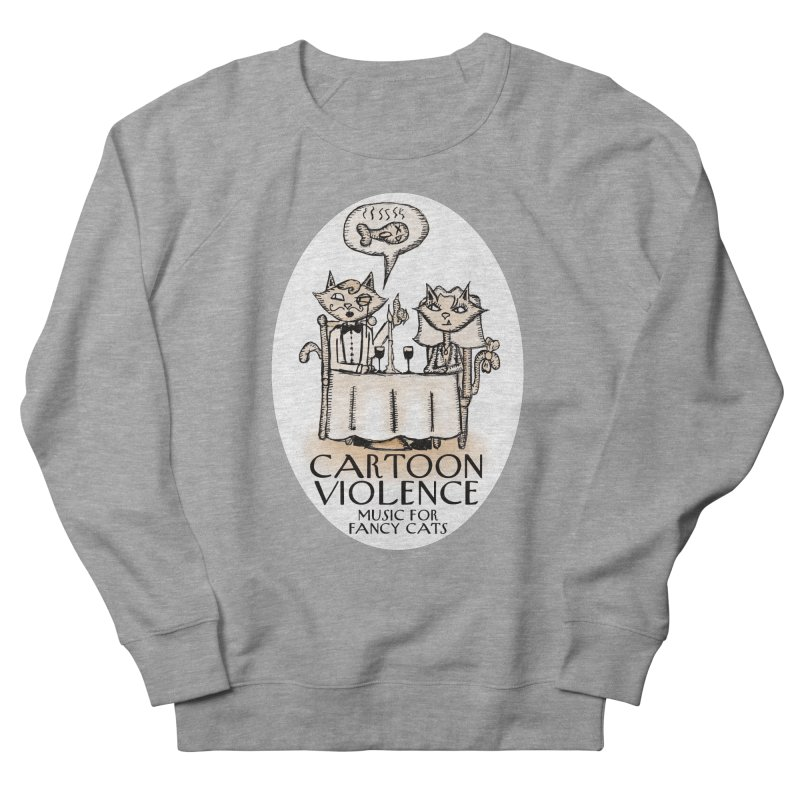 Fancy Cats Mew Yorker Men's French Terry Sweatshirt by Shirts by Cartoon Violence