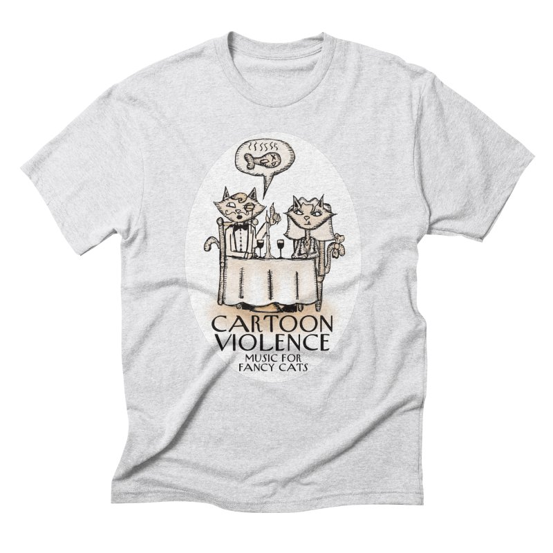Fancy Cats Mew Yorker Men's Triblend T-Shirt by Shirts by Cartoon Violence