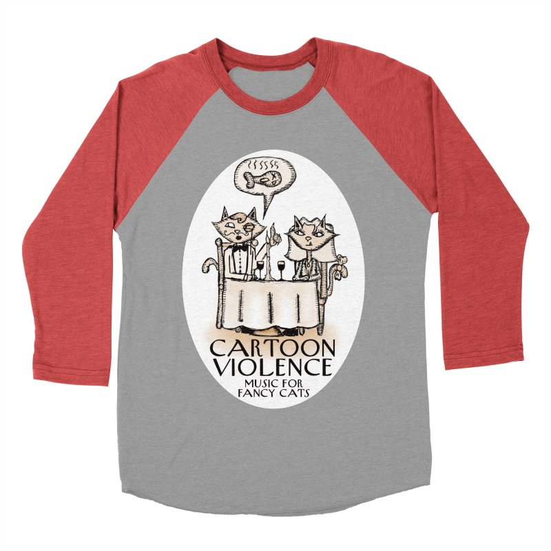Fancy Cats Mew Yorker Women's Baseball Triblend Longsleeve T-Shirt by Shirts by Cartoon Violence