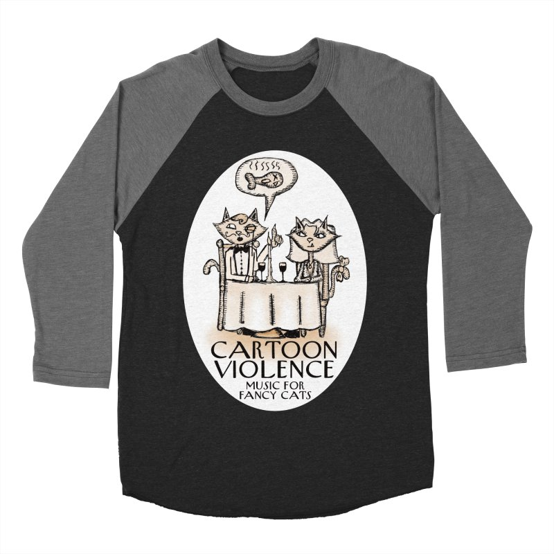 Fancy Cats Mew Yorker Women's Baseball Triblend Longsleeve T-Shirt by Shirts by Cartoon Violence