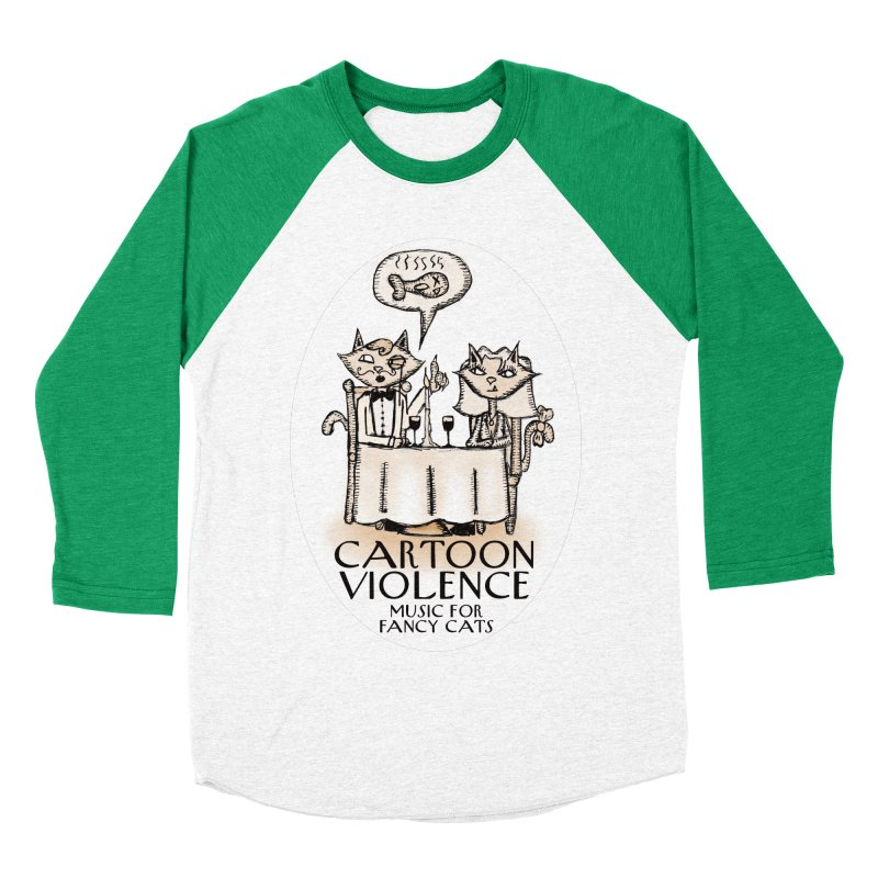 Fancy Cats Mew Yorker Men's Baseball Triblend Longsleeve T-Shirt by Shirts by Cartoon Violence