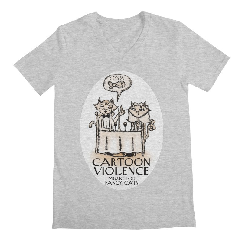 Fancy Cats Mew Yorker Men's V-Neck by Shirts by Cartoon Violence