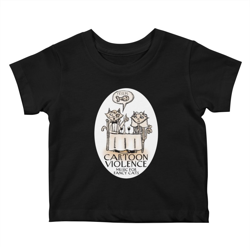 Fancy Cats Mew Yorker Kids Baby T-Shirt by Shirts by Cartoon Violence