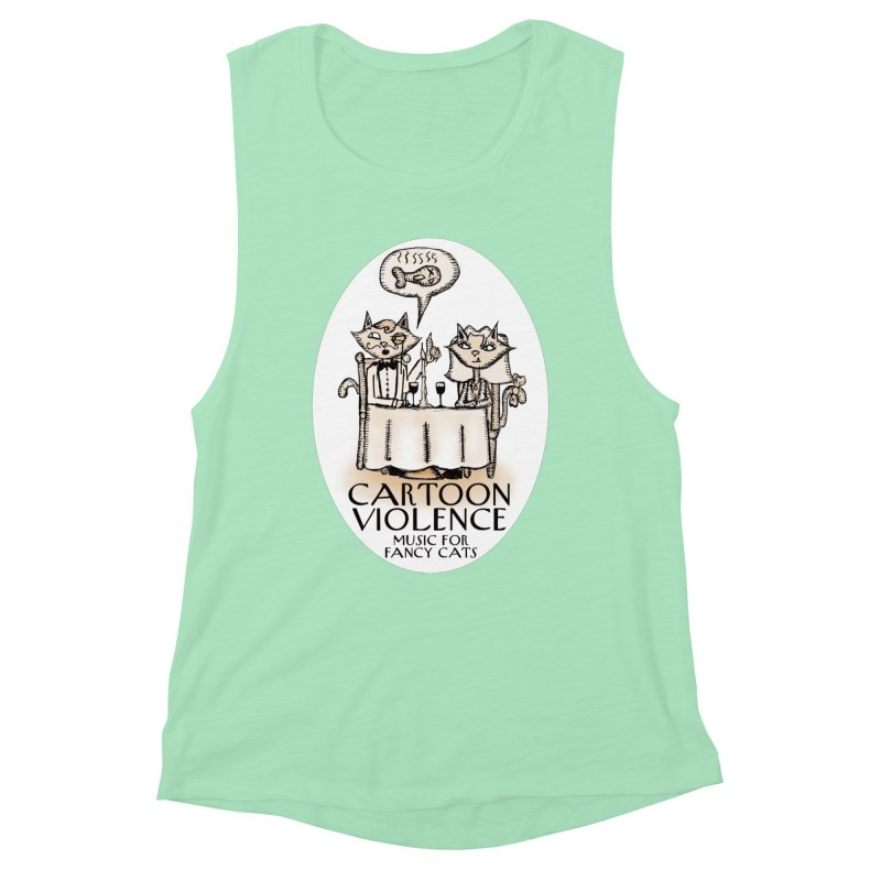 Fancy Cats Mew Yorker Women's Muscle Tank by Shirts by Cartoon Violence