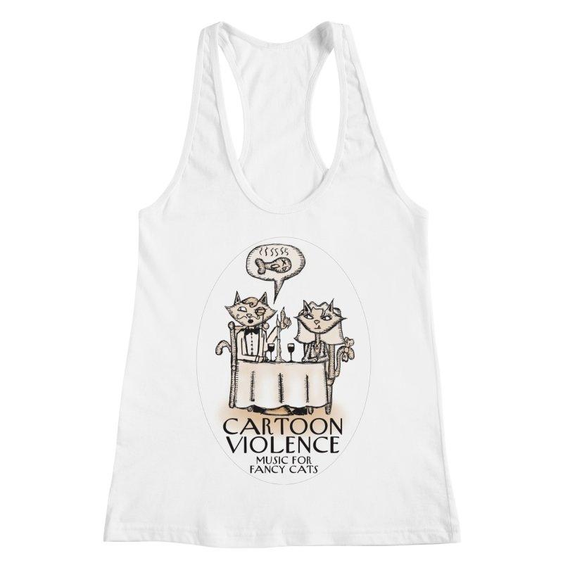 Fancy Cats Mew Yorker Women's Racerback Tank by Shirts by Cartoon Violence