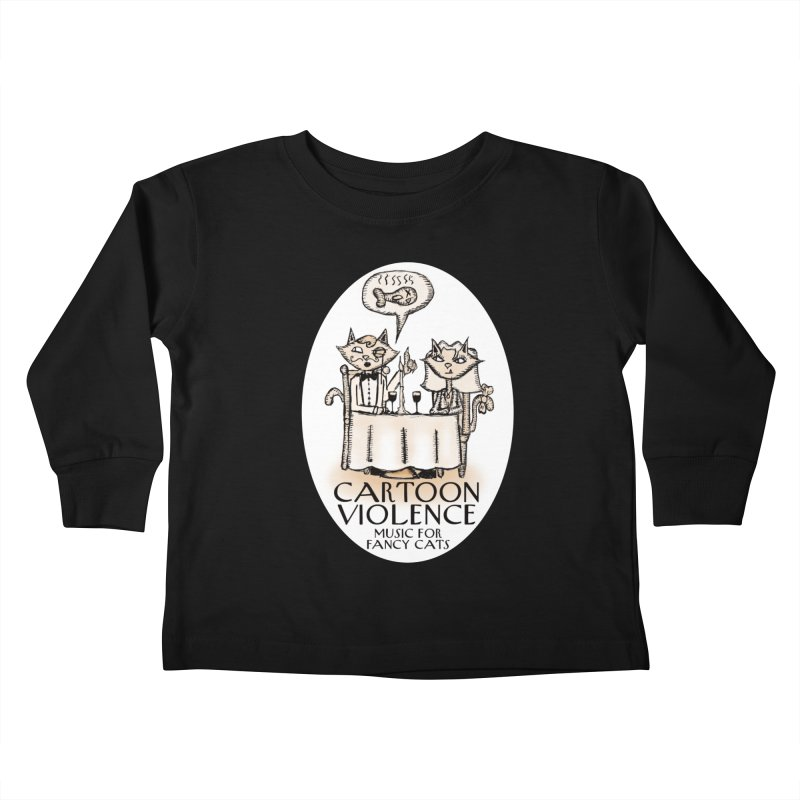 Fancy Cats Mew Yorker Kids Toddler Longsleeve T-Shirt by Shirts by Cartoon Violence