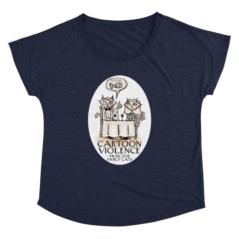 Fancy Cats Mew Yorker Women's Dolman Scoop Neck by Shirts by Cartoon Violence