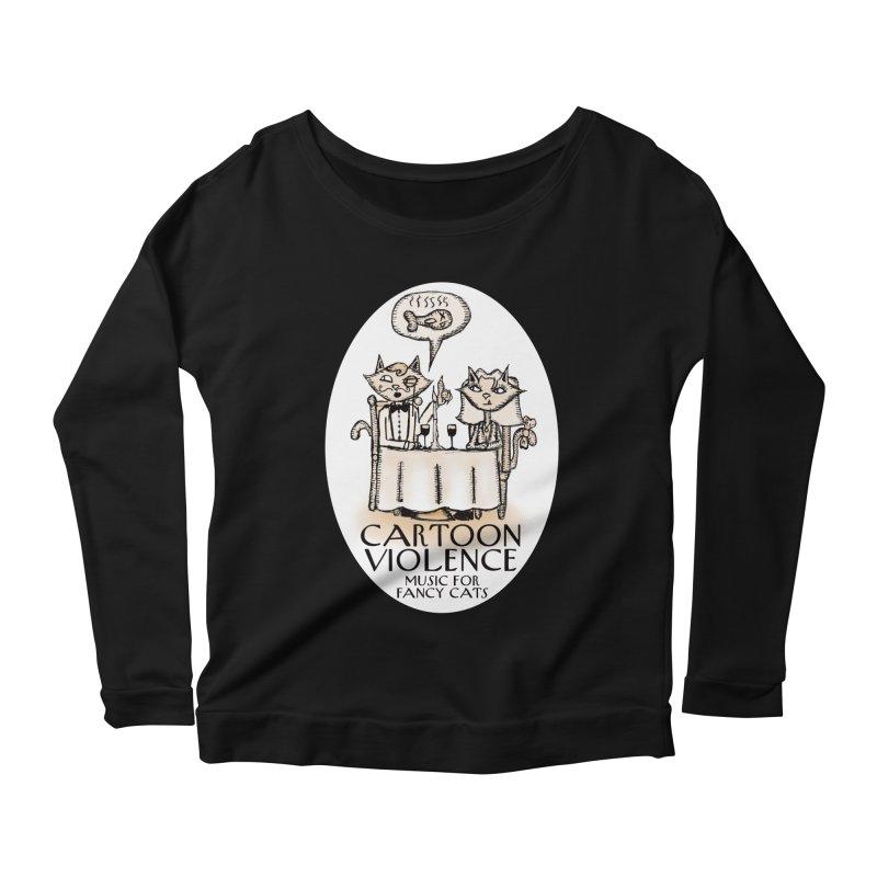 Fancy Cats Mew Yorker Women's Scoop Neck Longsleeve T-Shirt by Shirts by Cartoon Violence