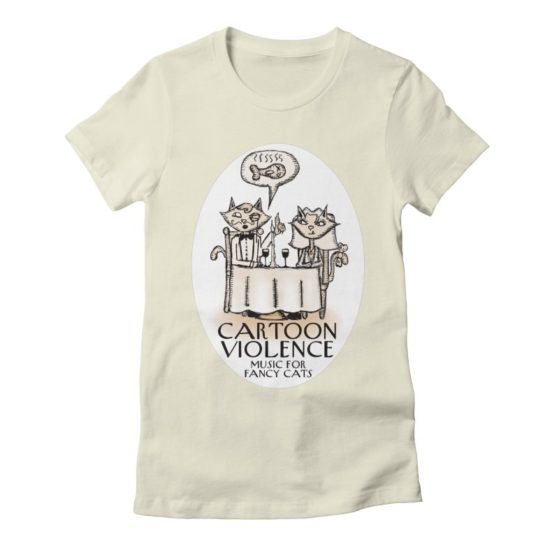 Fancy Cats Mew Yorker Women's Fitted T-Shirt by Shirts by Cartoon Violence