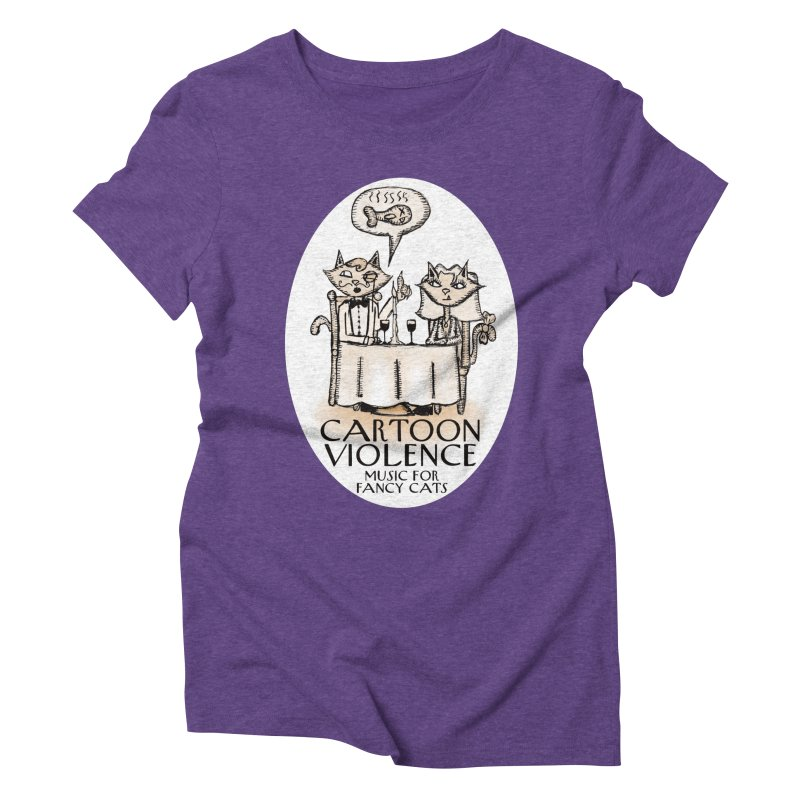 Fancy Cats Mew Yorker Women's Triblend T-Shirt by Shirts by Cartoon Violence