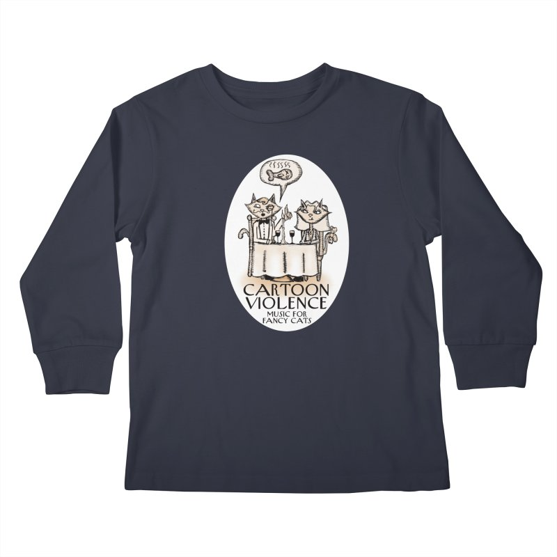 Fancy Cats Mew Yorker Kids Longsleeve T-Shirt by Shirts by Cartoon Violence