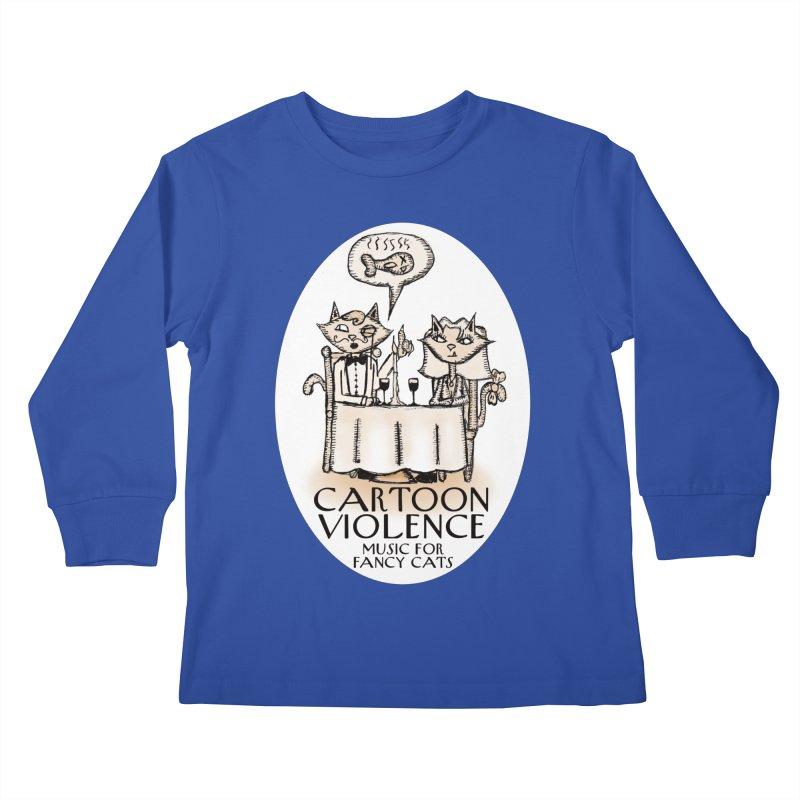 Fancy Cats Mew Yorker Kids Longsleeve T-Shirt by Shirts by Cartoon Violence