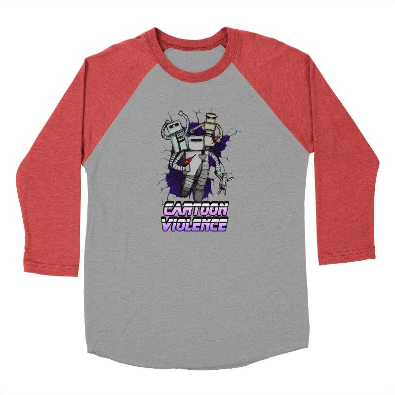 Night Of 1000 Robots Women's Baseball Triblend Longsleeve T-Shirt by Shirts by Cartoon Violence