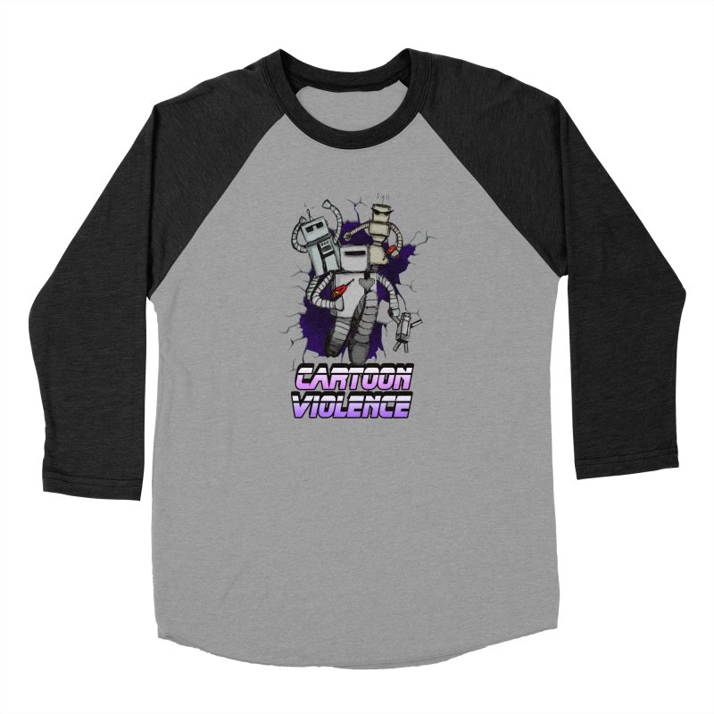 Night Of 1000 Robots Men's Baseball Triblend Longsleeve T-Shirt by Shirts by Cartoon Violence
