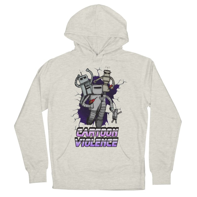 Night Of 1000 Robots Men's French Terry Pullover Hoody by Shirts by Cartoon Violence
