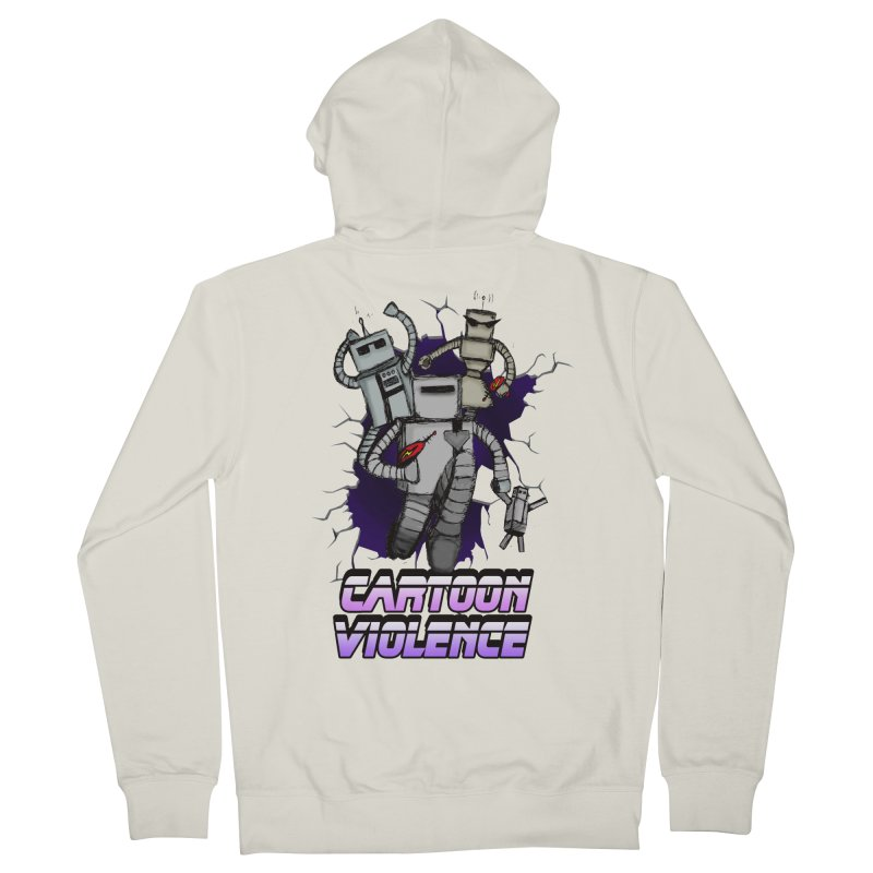 Night Of 1000 Robots Women's French Terry Zip-Up Hoody by Shirts by Cartoon Violence