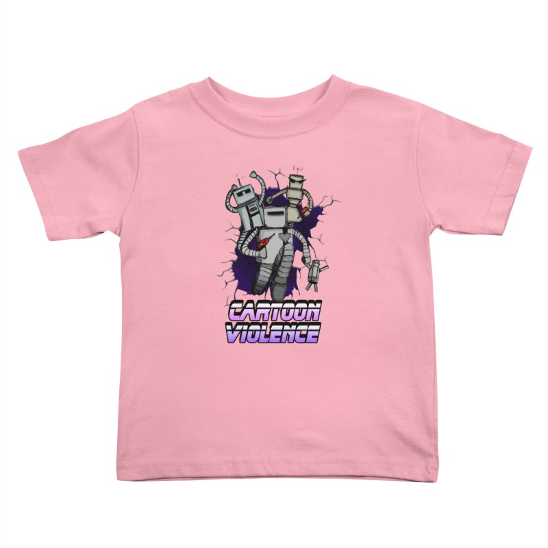 Night Of 1000 Robots Kids Toddler T-Shirt by Shirts by Cartoon Violence