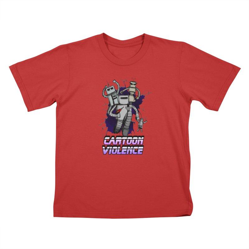 Night Of 1000 Robots Kids T-Shirt by Shirts by Cartoon Violence