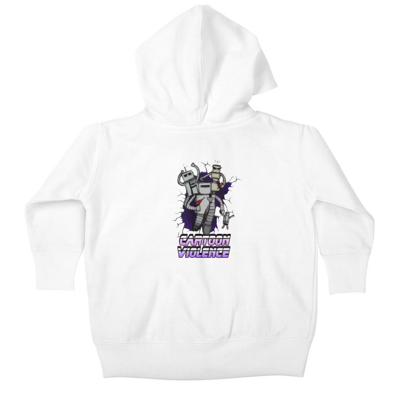 Night Of 1000 Robots Kids Baby Zip-Up Hoody by Shirts by Cartoon Violence