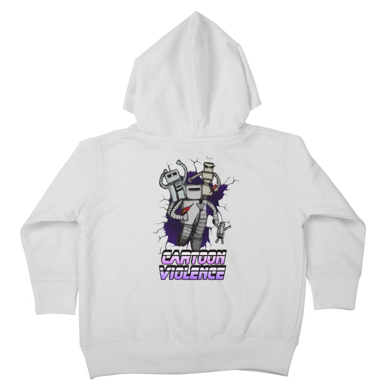 Night Of 1000 Robots Kids Toddler Zip-Up Hoody by Shirts by Cartoon Violence