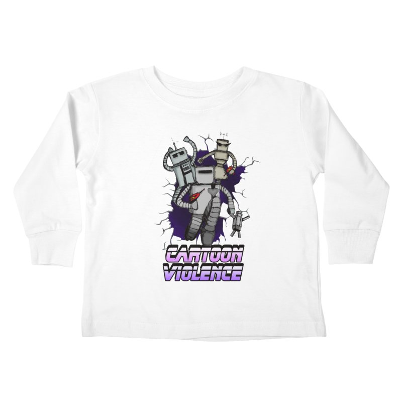 Night Of 1000 Robots Kids Toddler Longsleeve T-Shirt by Shirts by Cartoon Violence