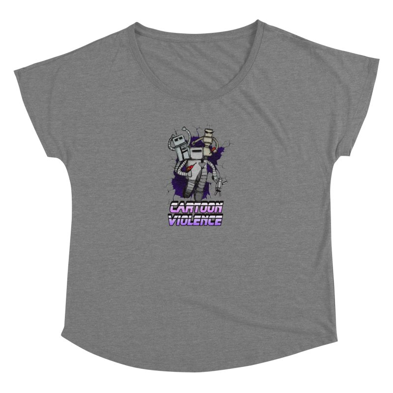 Night Of 1000 Robots Women's Scoop Neck by Shirts by Cartoon Violence
