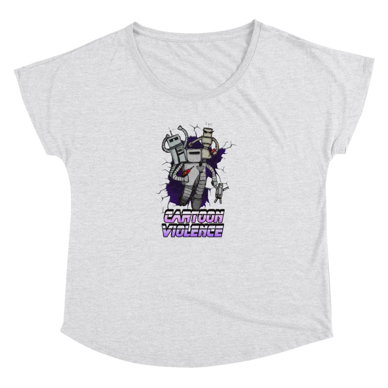 Night Of 1000 Robots Women's Dolman Scoop Neck by Shirts by Cartoon Violence