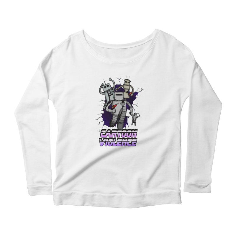 Night Of 1000 Robots Women's Scoop Neck Longsleeve T-Shirt by Shirts by Cartoon Violence