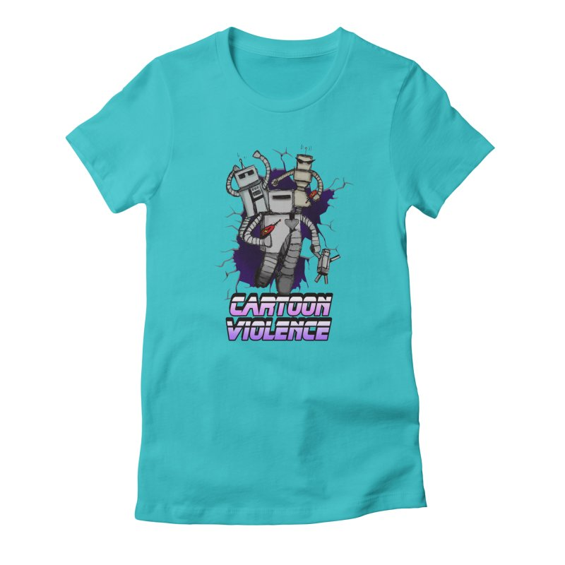 Night Of 1000 Robots Women's Fitted T-Shirt by Shirts by Cartoon Violence