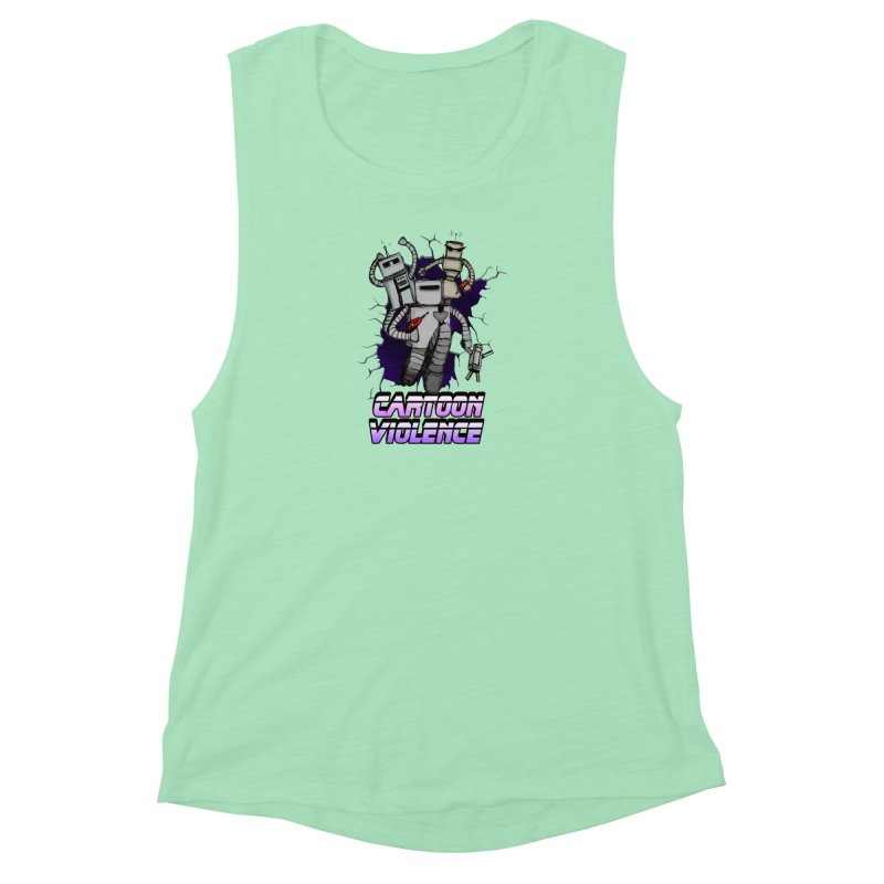 Night Of 1000 Robots Women's Muscle Tank by Shirts by Cartoon Violence