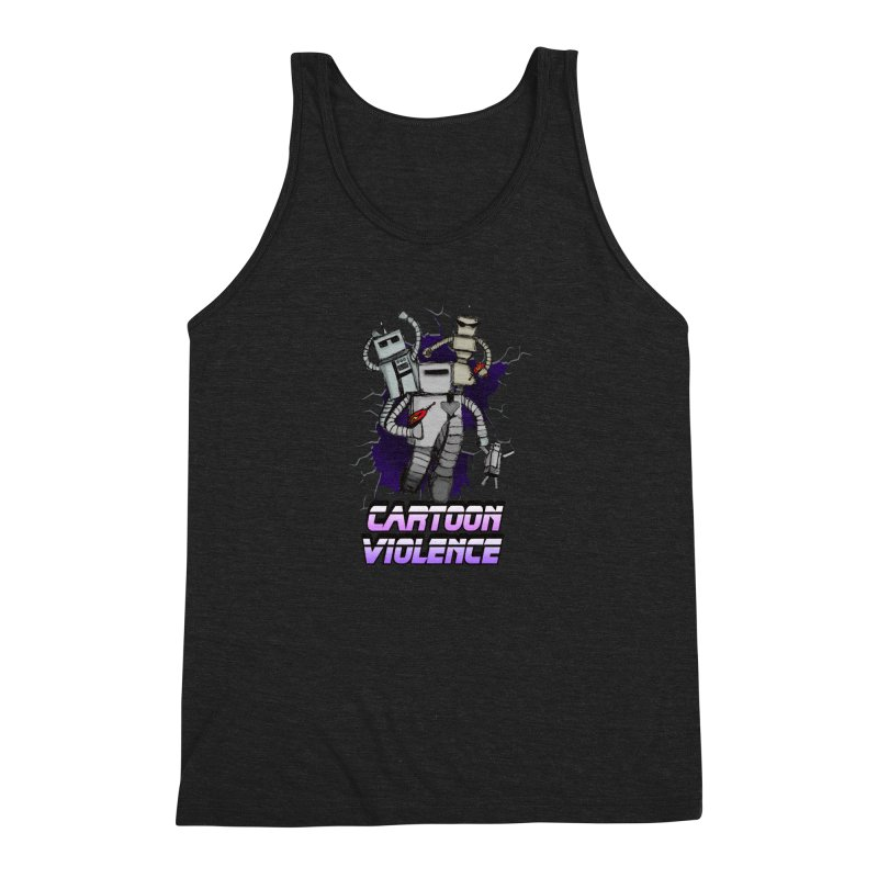 Night Of 1000 Robots Men's Triblend Tank by Shirts by Cartoon Violence