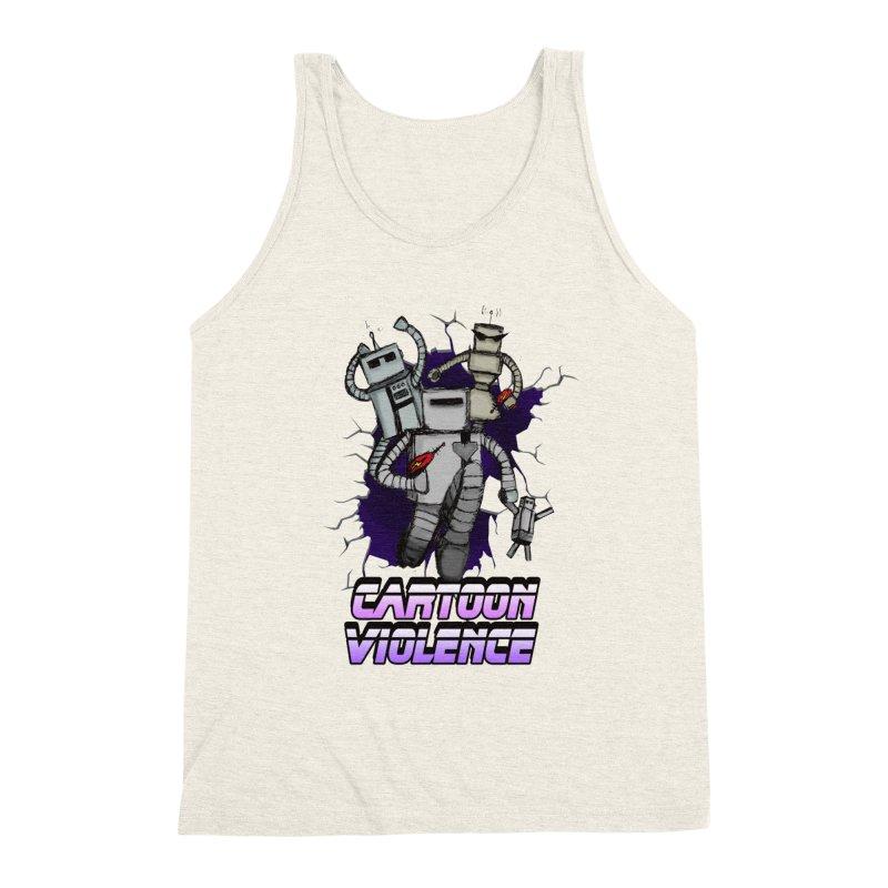 Night Of 1000 Robots Men's Triblend Tank by Shirts by Cartoon Violence
