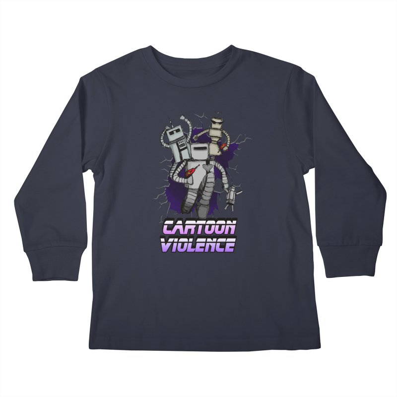 Night Of 1000 Robots Kids Longsleeve T-Shirt by Shirts by Cartoon Violence