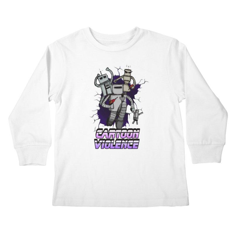 Night Of 1000 Robots Kids Longsleeve T-Shirt by Shirts by Cartoon Violence