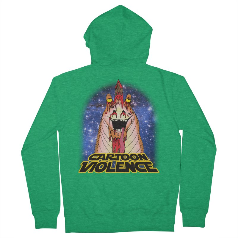Jar Jar's Stupid Head Men's Zip-Up Hoody by Shirts by Cartoon Violence