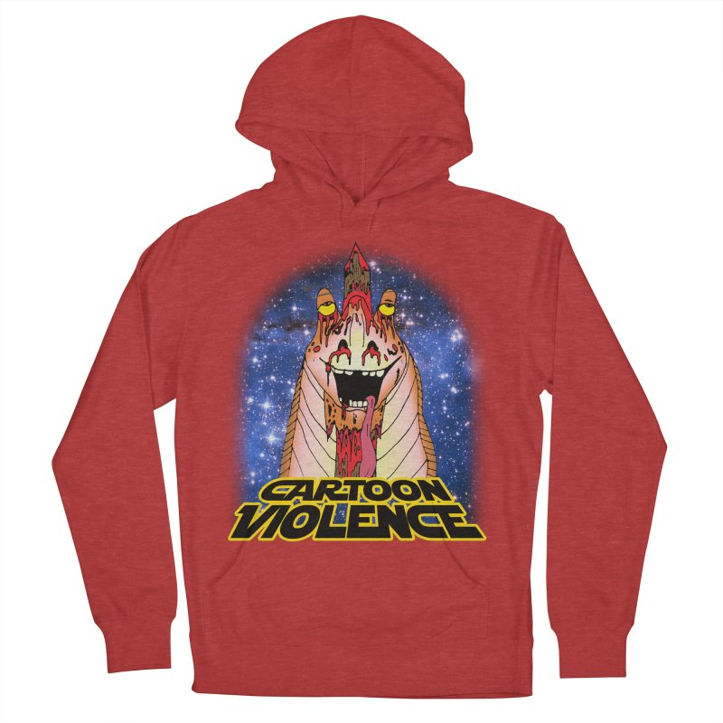 Jar Jar's Stupid Head Women's French Terry Pullover Hoody by Shirts by Cartoon Violence