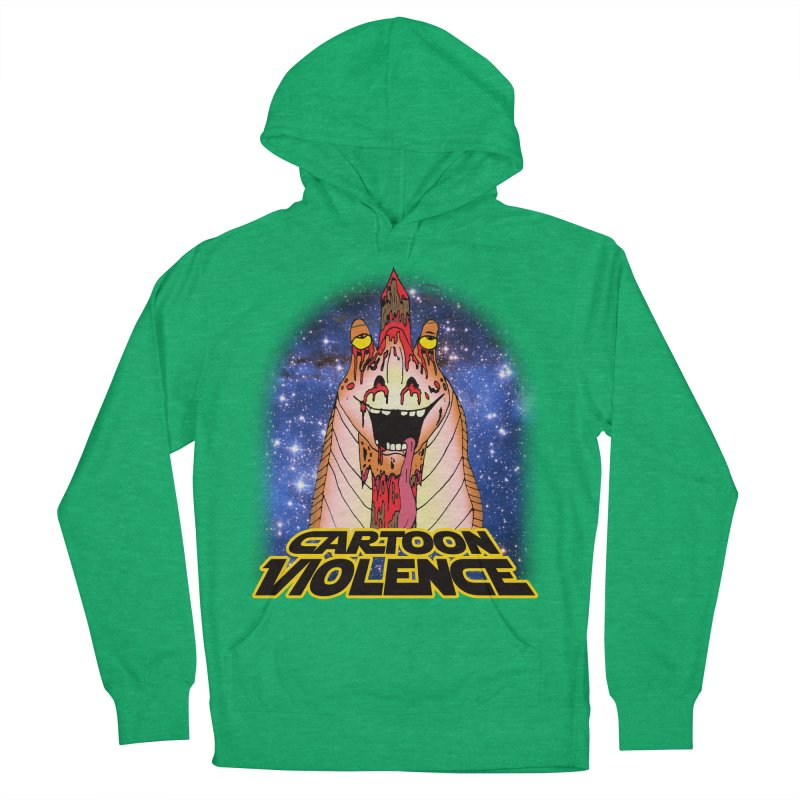 Jar Jar's Stupid Head Men's French Terry Pullover Hoody by Shirts by Cartoon Violence