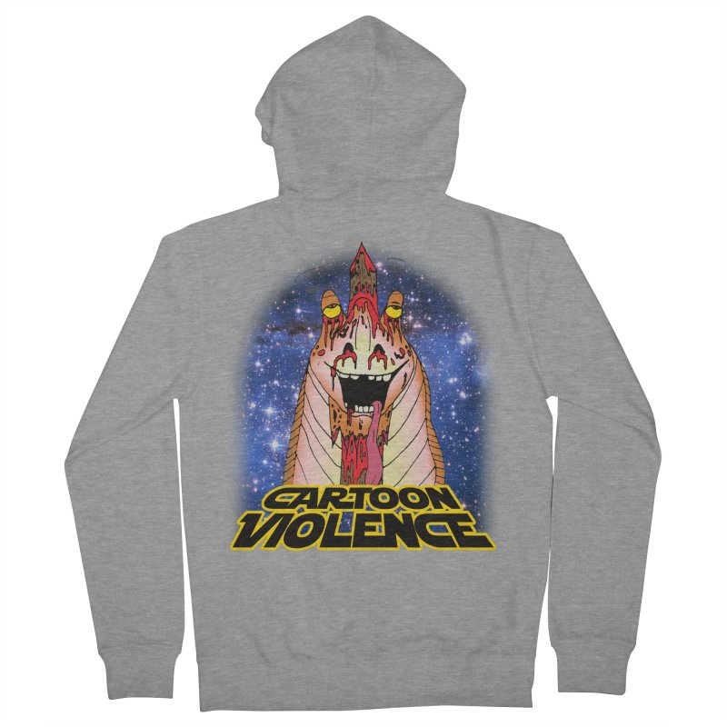 Jar Jar's Stupid Head Women's French Terry Zip-Up Hoody by Shirts by Cartoon Violence