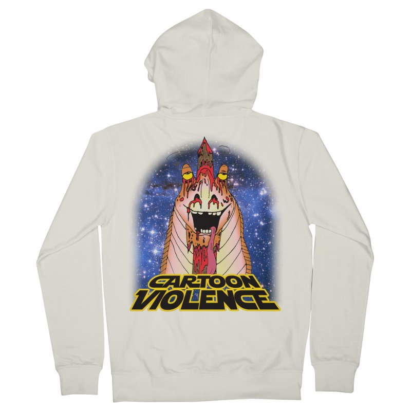 Jar Jar's Stupid Head Men's French Terry Zip-Up Hoody by Shirts by Cartoon Violence